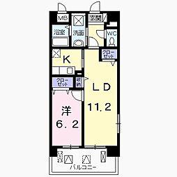 東京都八王子市椚田町の賃貸マンションの間取り