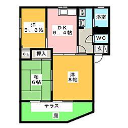 メゾン欅 C棟[1階]の間取り