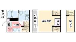 casa di gloria[105号室]の間取り