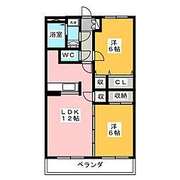 マテール寺田II[3階]の間取り