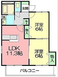 Comodo Casa(コモドカーサ)[3階]の間取り