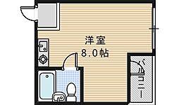 ナニワかみつきマンション[2階]の間取り