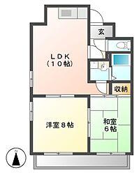 メイセイハイツI[5階]の間取り