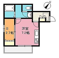 埼玉県さいたま市南区大谷場1丁目の賃貸アパートの間取り