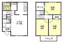 Leek Field[1階]の間取り