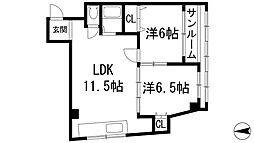 シャンブルヨシオカ[2階]の間取り