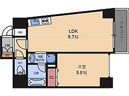 D-Rest Nakanoshima[2階]の間取り