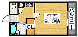 メゾンドアサカ[3階]の間取り