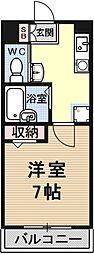 pure dormitory SHIMIZU[1517号室号室]の間取り