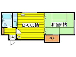 北海道札幌市東区北十二条東14丁目の賃貸アパートの間取り