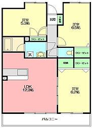 デルニエK[3階]の間取り