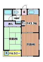 コテージ 和田[2階]の間取り