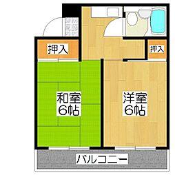 エスプリト横山[506号室]の間取り