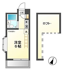 東京都日野市東平山2丁目の賃貸アパートの間取り
