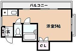 フェリアミヤモト[4階]の間取り