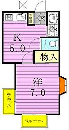 コーポ中村[202号室]の間取り