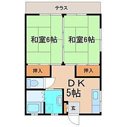 本町コーポ[1階]の間取り