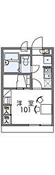 Osaka Metro谷町線 守口駅 徒歩14分の賃貸アパート 1階1Kの間取り