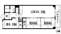 プラビーラコート3[3階]の間取り