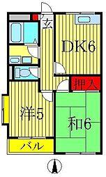 サニーコーポベル[1階]の間取り