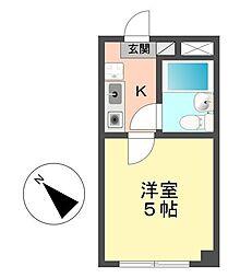 東京都江戸川区西小岩4丁目の賃貸マンションの間取り