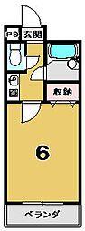 SOLEIL春日[406号室]の間取り