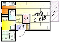 スタティオ正雀[3階]の間取り