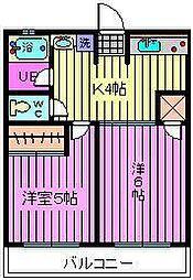 埼玉県さいたま市大宮区天沼町2丁目の賃貸アパートの間取り