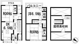 [テラスハウス] 兵庫県川西市一庫3丁目 の賃貸【/】の間取り