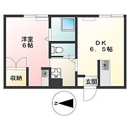 m248[3階]の間取り