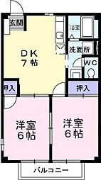 アメニティコーポA[2階]の間取り