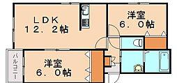 プレステージ穂波東[1階]の間取り
