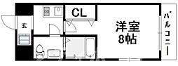 大阪府大阪市阿倍野区天王寺町南3丁目の賃貸マンションの間取り