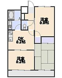 ストークマンション富士[203号室]の間取り