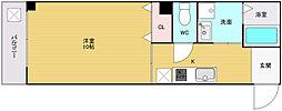 大阪府大阪市浪速区難波中2丁目の賃貸マンションの間取り