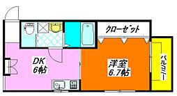 第5テラダハイツ 1B号室[1階]の間取り