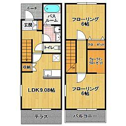 Coco flora土井II[2階]の間取り