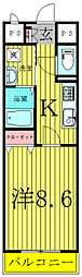 オアゾ桜台[2階]の間取り