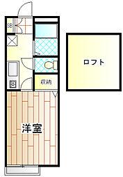 ラピスAP鶴川[202号室]の間取り