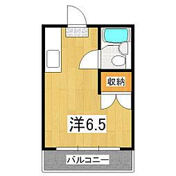 山口マンション[3階]の間取り