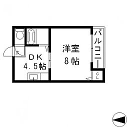 エミネントダイキ[211号室号室]の間取り
