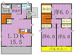 [一戸建] 千葉県柏市かやの町 の賃貸【/】の間取り