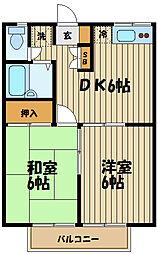 エステートピアミヨシ[2階]の間取り