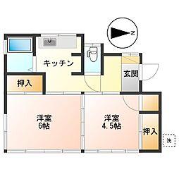 [一戸建] 東京都調布市深大寺元町2丁目 の賃貸【/】の間取り
