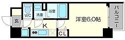 メインステージ京町堀 10階1Kの間取り