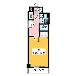 ロイジェント新栄III[2階]の間取り