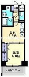 JR山陽本線 岡山駅 徒歩20分の賃貸マンション 10階1DKの間取り