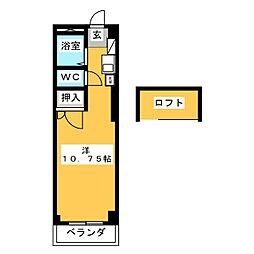 豊田ハイツ B[2階]の間取り