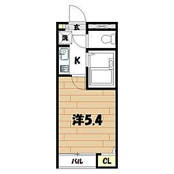 クレール二俣川[202号室]の間取り