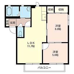 キャロットハウス II[1階]の間取り